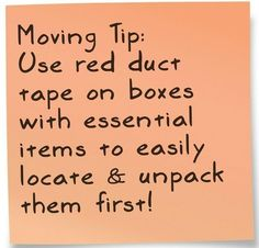 moving boxes tip